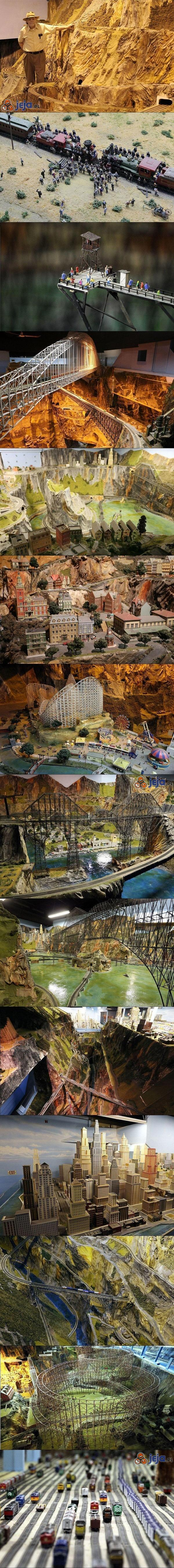 Mężczyzna spędził 16 lat na budowaniu gigantycznego modelu kolei