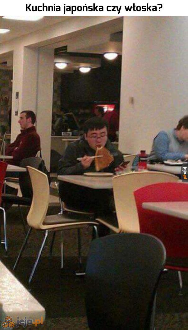 Chyba spróbuję zjeść pizzę pałeczkami