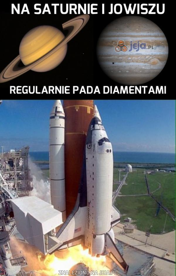 Na Jowiszu i Saturnie regularnie pada diamentami