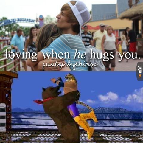 Gdy On cię przytula
