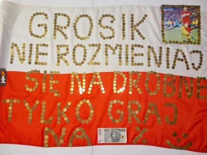 Transparent na mecz