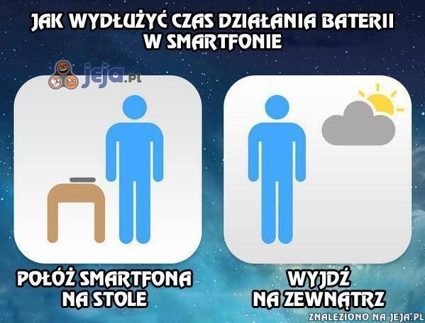 Jak wydłużyć czas działania baterii w smartfonie