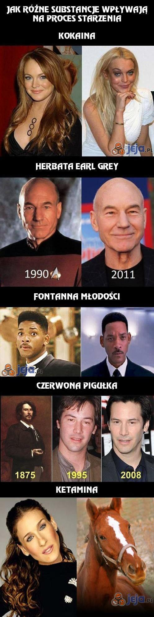 Proces starzenia u aktorów