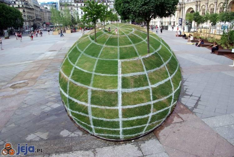 Iluzja na chodniku - Ziemia