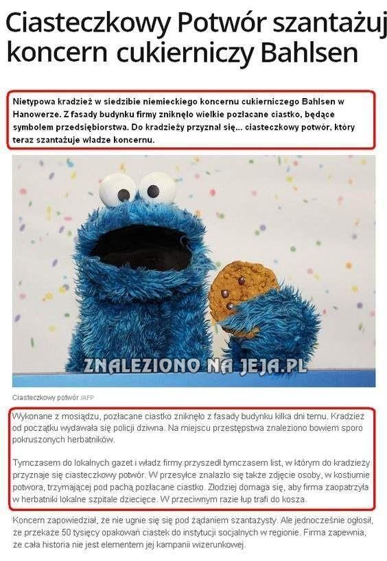 Ciasteczkowy Potwór złodziejem?