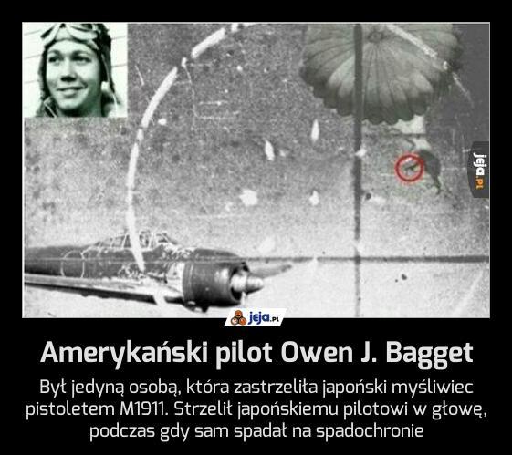 Amerykański pilot Owen J. Bagget
