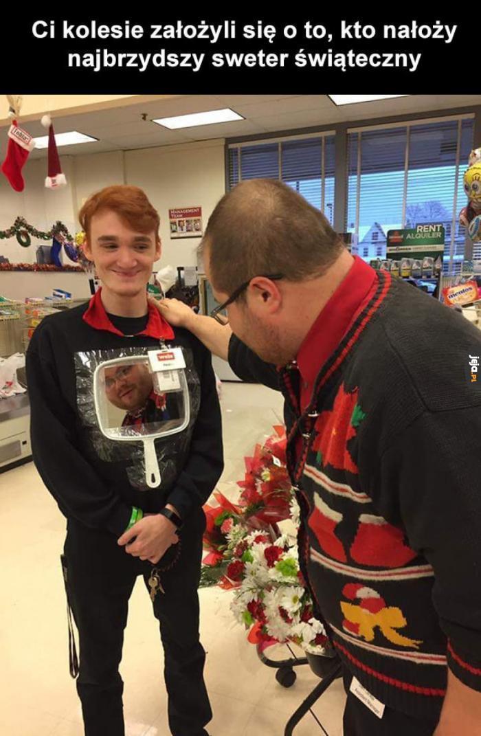Najbrzydszy sweter świąteczny