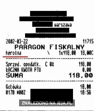 Paragon za heroinę