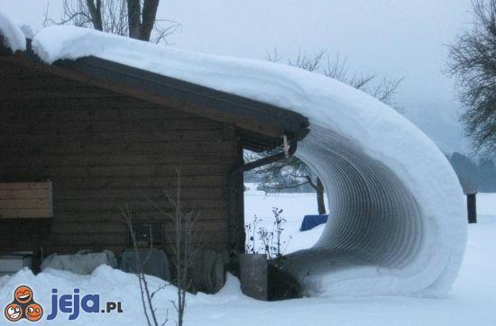 Śnieg z dachu