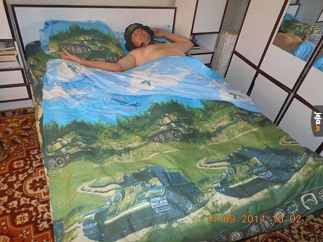Ivan w swojej sypialni