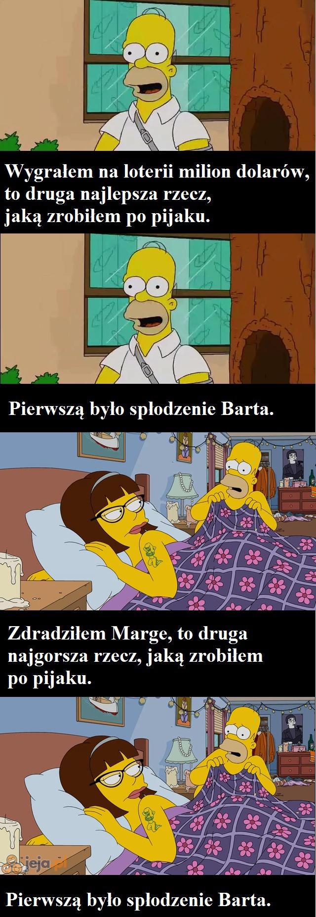 Homer naprawdę kocha syna