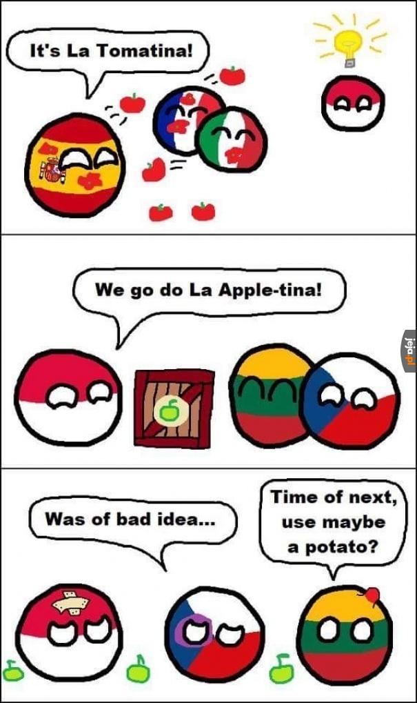 Festiwal rzucania jabłkami to nie był dobry pomysł