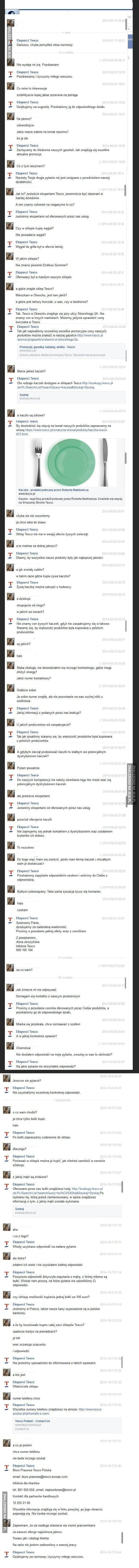 Rozmowa z Tesco