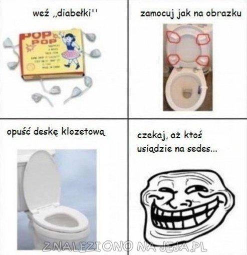 Toaletowy dowcip