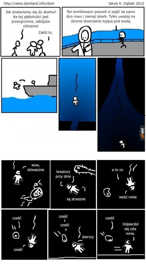 Kreatury na dnie