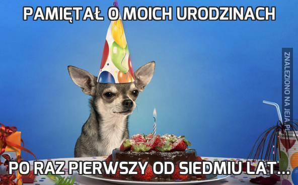 Pamiętał o moich urodzinach