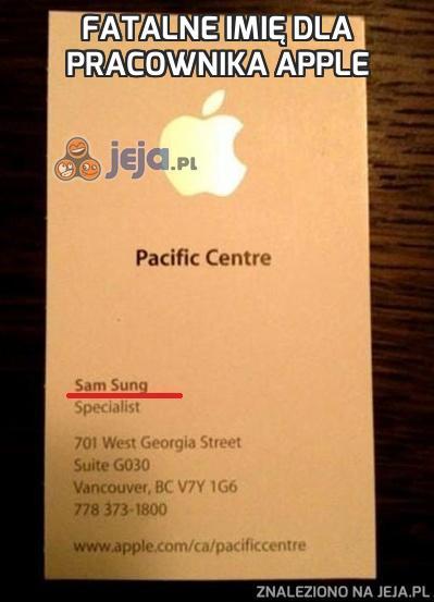 Fatalne imię dla pracownika Apple