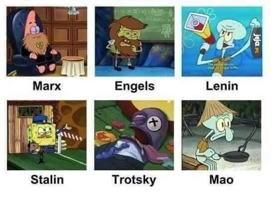 Komuniści według Spongeboba