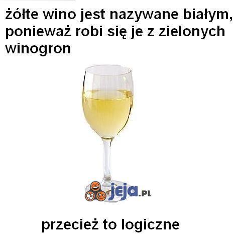 Białe wino - Przecież to logiczne