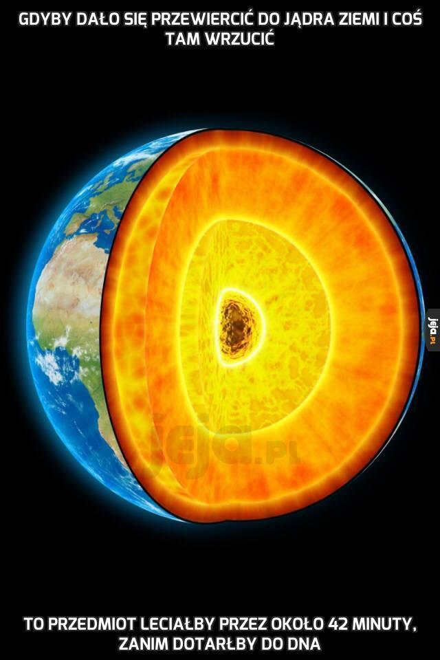 Gdyby dało się przewiercić do jądra Ziemi i coś tam wrzucić