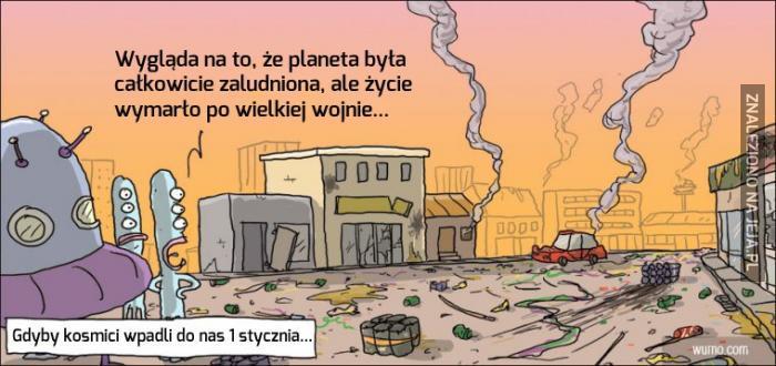 Ziemia, tuż po Sylwestrze...