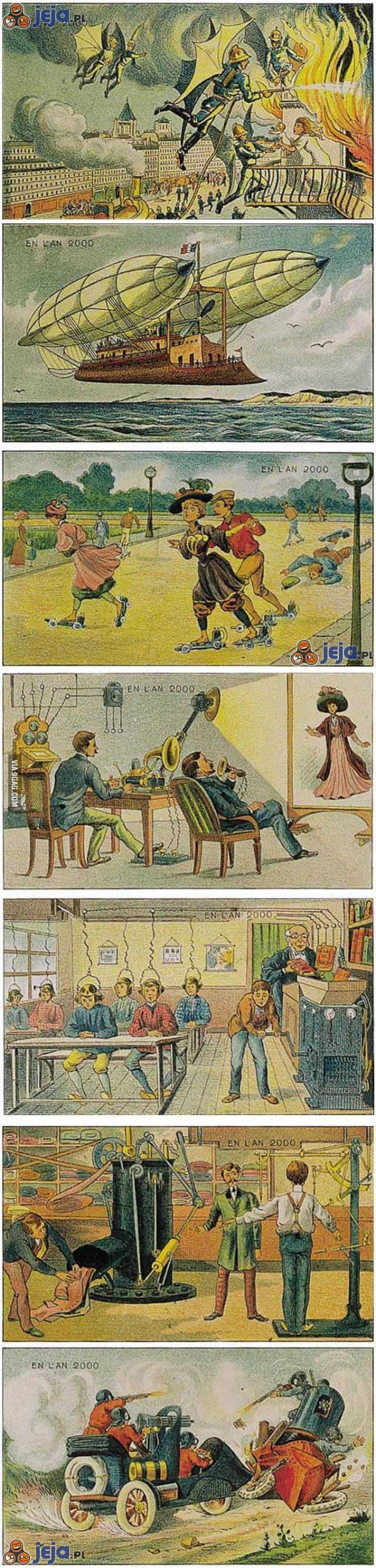 Jak rok 2000 wyobrażano sobie w roku 1910