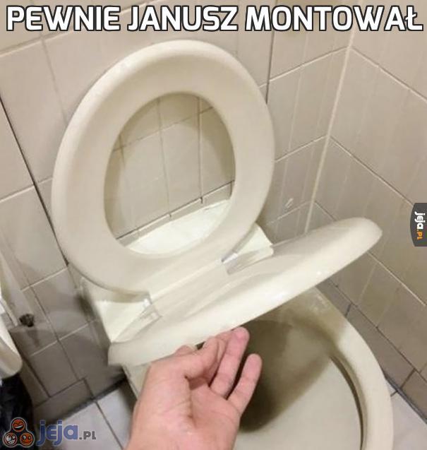 Pewnie Janusz montował