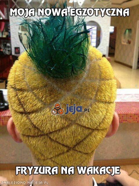 Moja nowa egzotyczna fryzura na wakacje