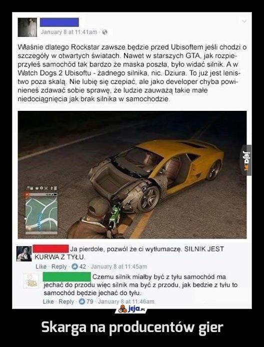 Skarga na producentów gier