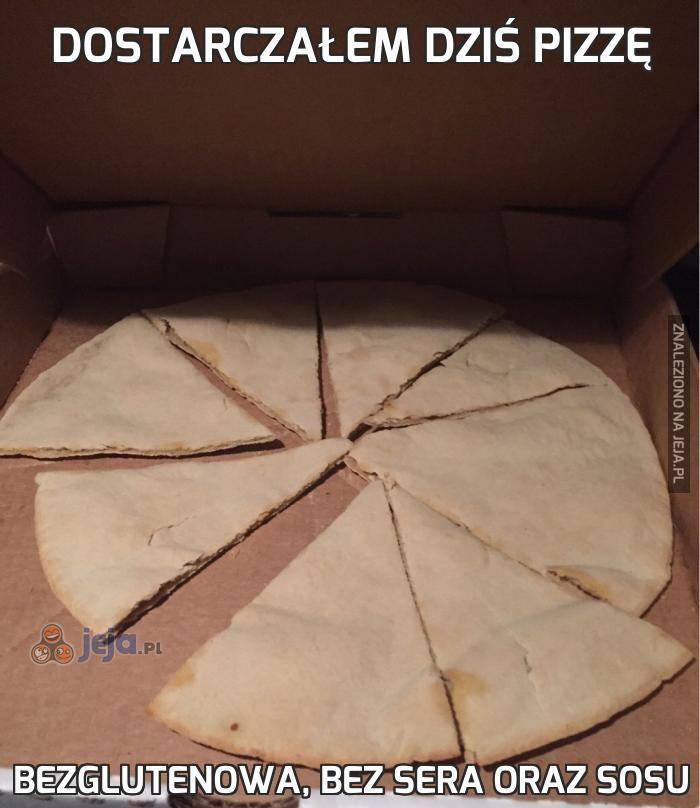 Dostarczałem dziś pizzę