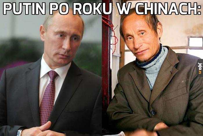 Putin po pobycie w Chinach