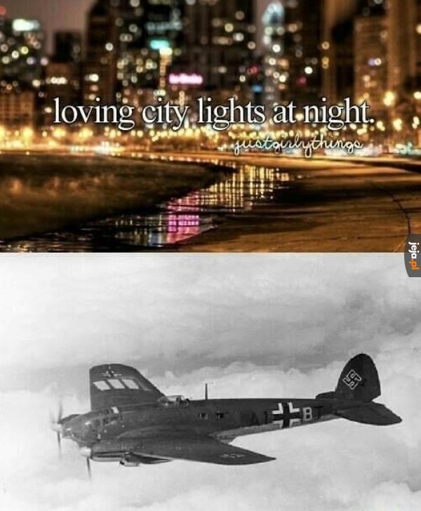 Światła miasta nocą bywają pomocne