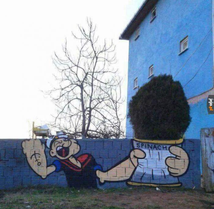 Mural z Popeyem