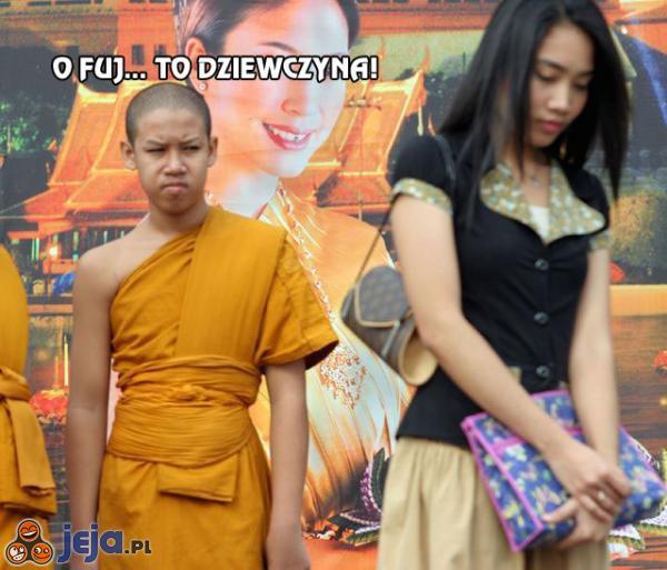 Tylko mnich by tak spojrzał na dziewczynę