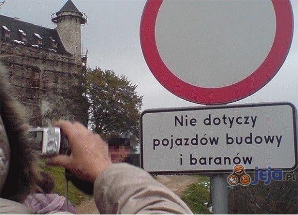 Zakaz wjazdu z małymi wyjątkami