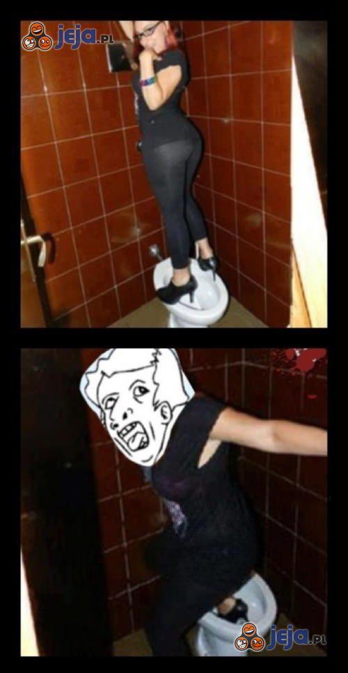 Sweet focia w toalecie