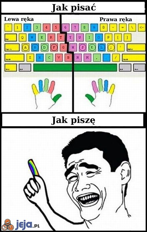 Jak pisać na klawiaturze