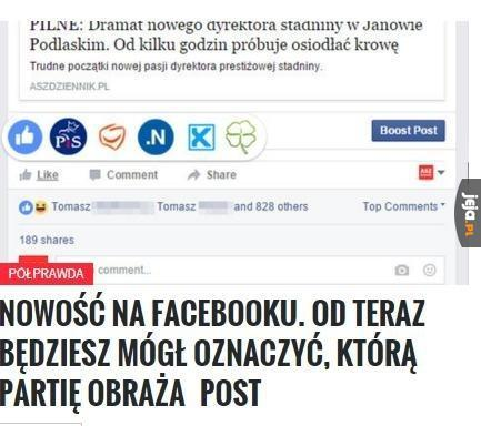 Nowa opcja na Facebooku