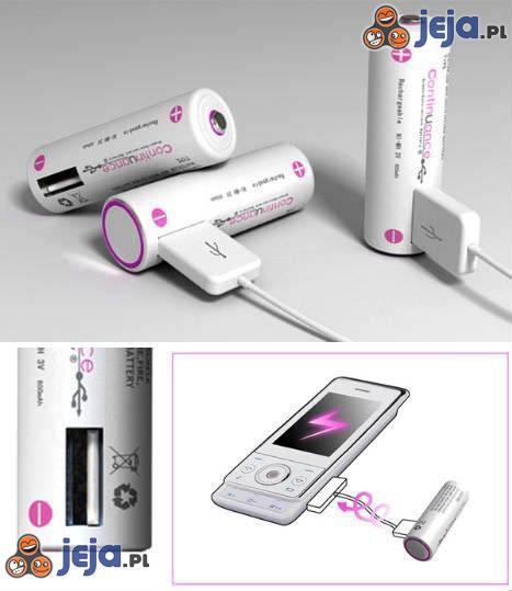 Bateria doładowująca telefon przez USB