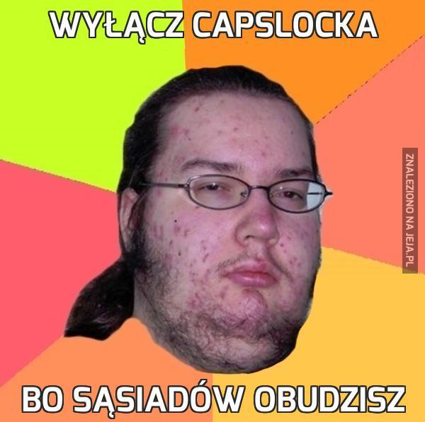 Wyłącz capslocka