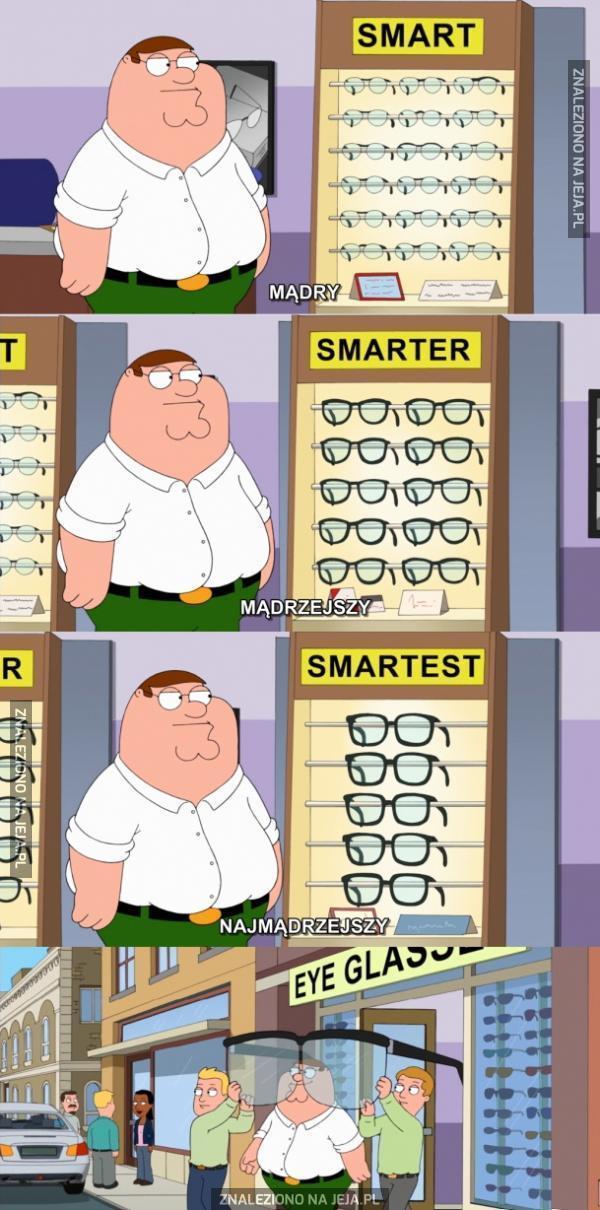 Okulary czynią Cię mądrzejszym