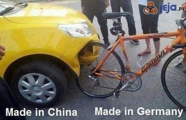 Niemiecki rower kontra chiński samochód
