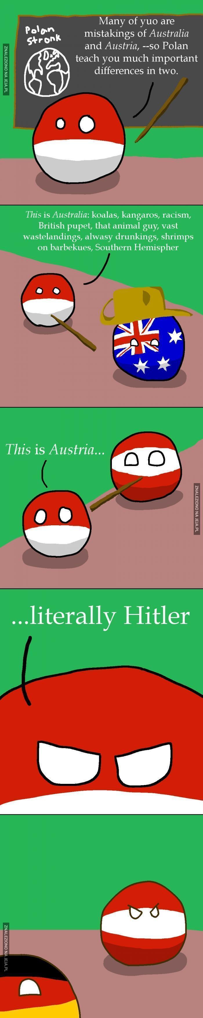 Różnica między Australią a Austrią