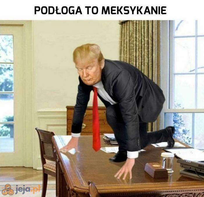 Trump vs podłoga