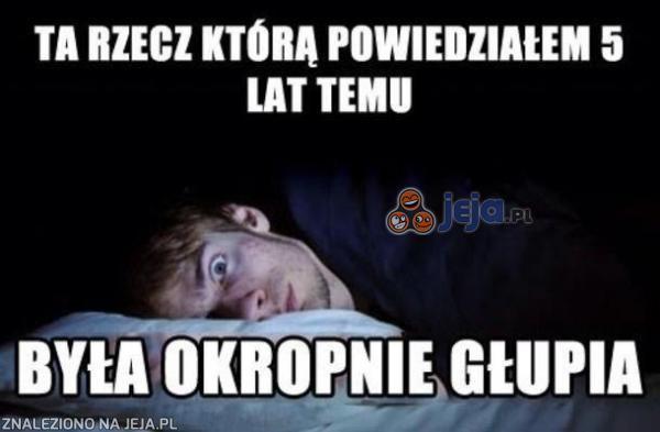 Kiedy próbujesz zasnąć...