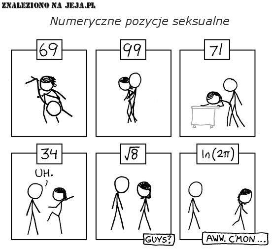 Numeryczne pozycje seksualne