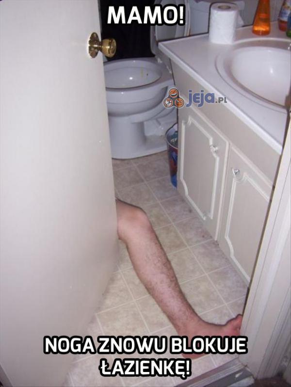Nie znoszę jak ktoś przesiaduje długo w łazience