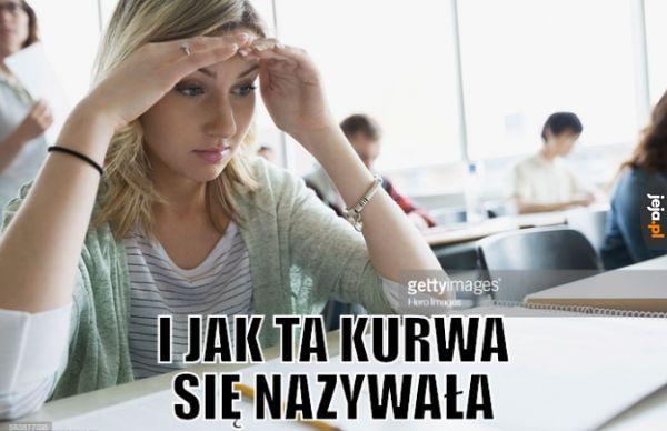 Tymczasem na maturze z polskiego