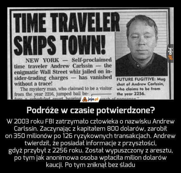 Podróże w czasie potwierdzone?