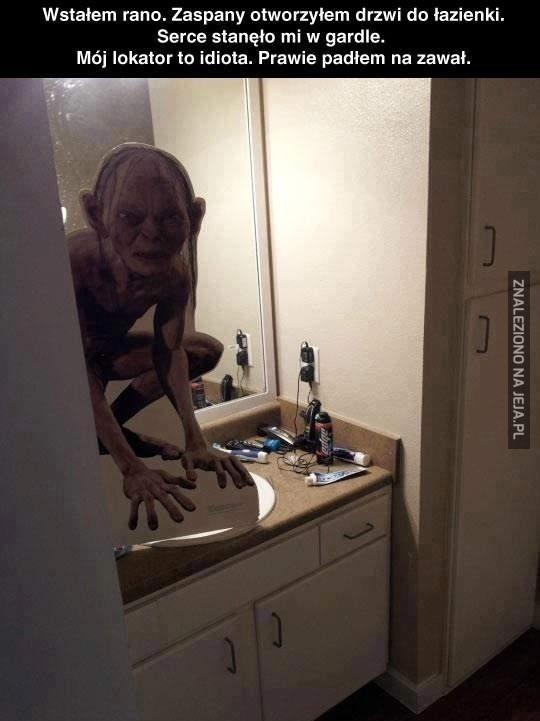 Gollum w łazience